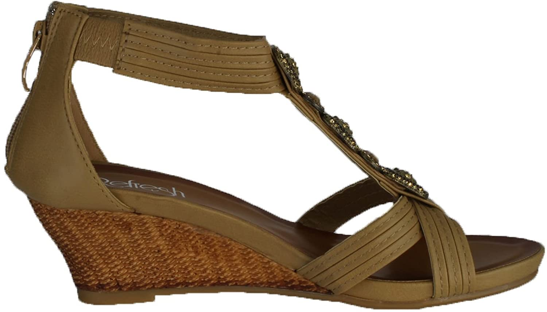 REFRESH Womens Ginny-10 Fashion Wedge Sandals