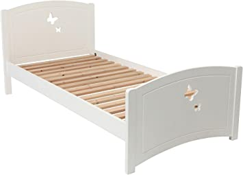 Tesco New Butterfly Wooden Single Toddler Bed Frame With Headboard