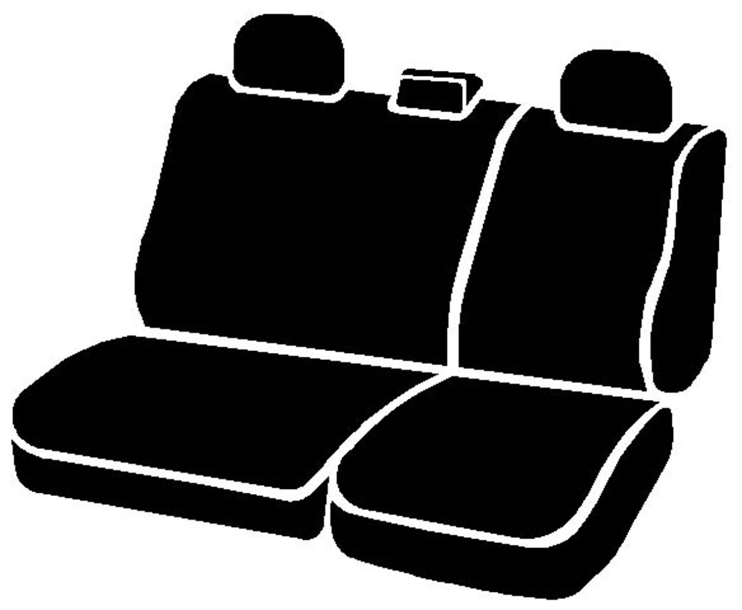 Fia SL62-82 RED Custom Fit Rear Seat Cover Split Seat 40//60 Leatherette, Black w//Red Center Panel