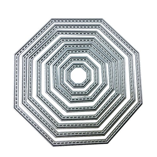 Cutting Dies Octagon Shape Dies in Embossing Machine for Craft Card Making