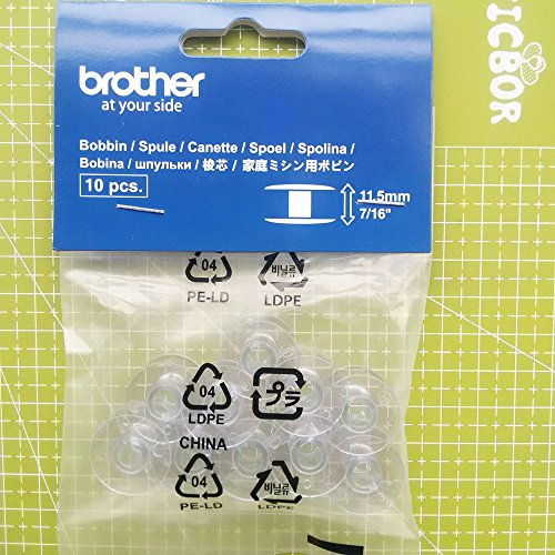 YICBOR SA156 Top Load Bobbins for Brother 10pcs