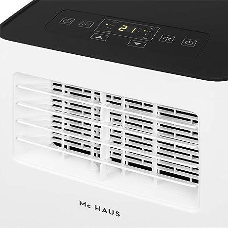 blanc Mc Haus ARTIC-16 ventilation et d/éshumidification t/él/écommande 20m2 Climatiseur mobile silencieux 7000BTU classe /énerg/étique A /écologique 780W 3 en 1: refroidissement