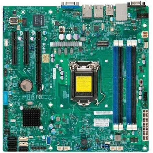 Super Micro Supermicro X10SLL+-F-B LGA1150/ Intel C222 PCH/ DDR3/ SATA3&USB3.0/ V&2GbE/ MicroATX Server Motherboard Bulk OEM