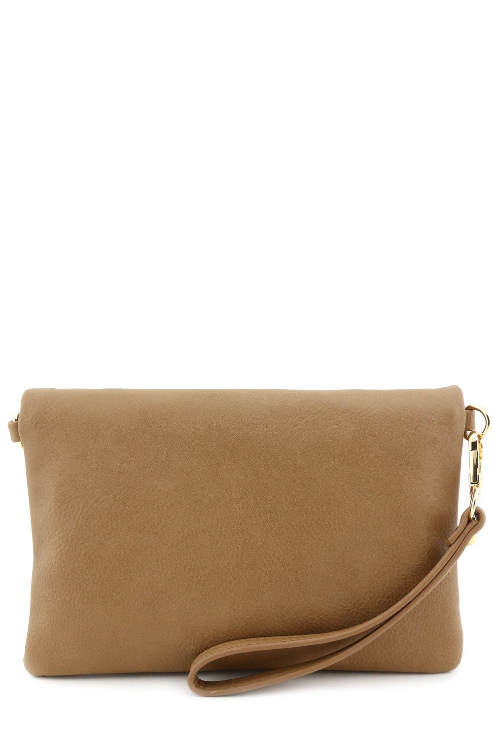 Envelope Wristlet Clutch Crossbody Bag with Chain Strap Stone by FashionPuzzle (Image #7)