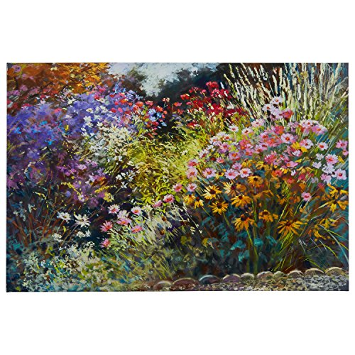 Modern Floral Print on Canvas, 45'' x 30'' by Stone & Beam