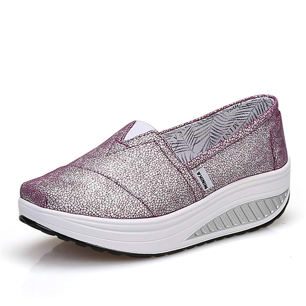 FangYOU1314 Chaussures de Toile de Dames 36 épaisses Dames Chaussures EU) Respirantes (Couleur : Violet, Taille : 36 2/3 EU) Violet bef0923 - boatplans.space
