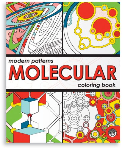 Modern Patterns Molecular Coloring Book Scientific Art Designs Challenging