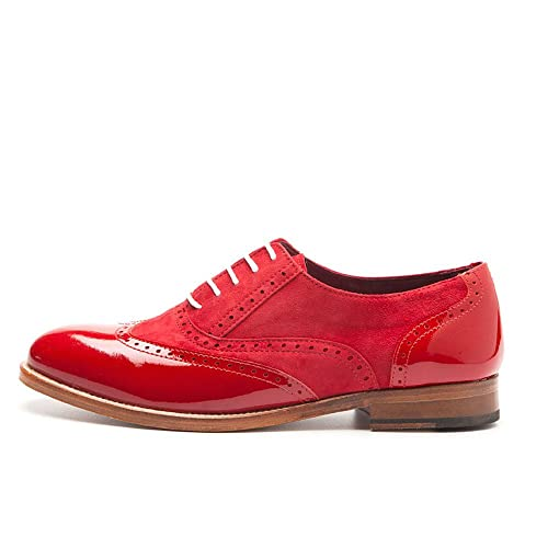 Beatnik Mujer Oxford Lena Too Red Ante Charol Rojo  Amazon.es  Zapatos y  complementos 21af30b090aa