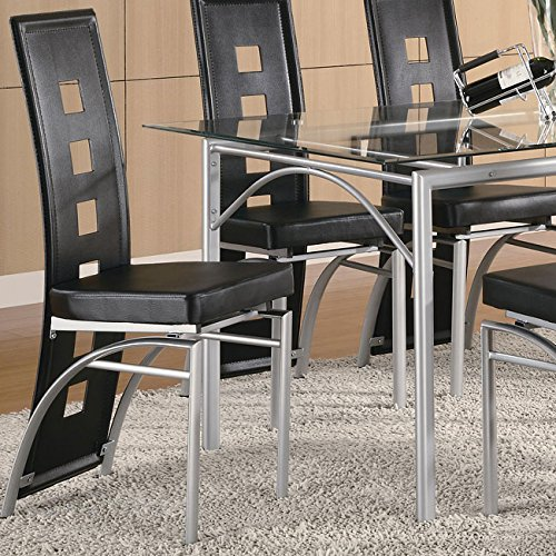 Los Feliz Side Chair in Silver/Black Finish (Set Of 2) by Coaster by Coaster Home Furnishings