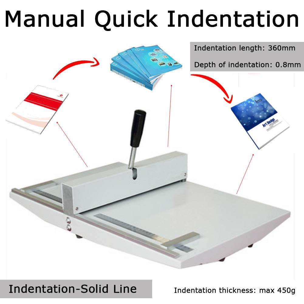 Manual 14'' 360mm Scoring Paper Creasing Machine Scorer Creaser + 2Magnetic Block by MS WGO