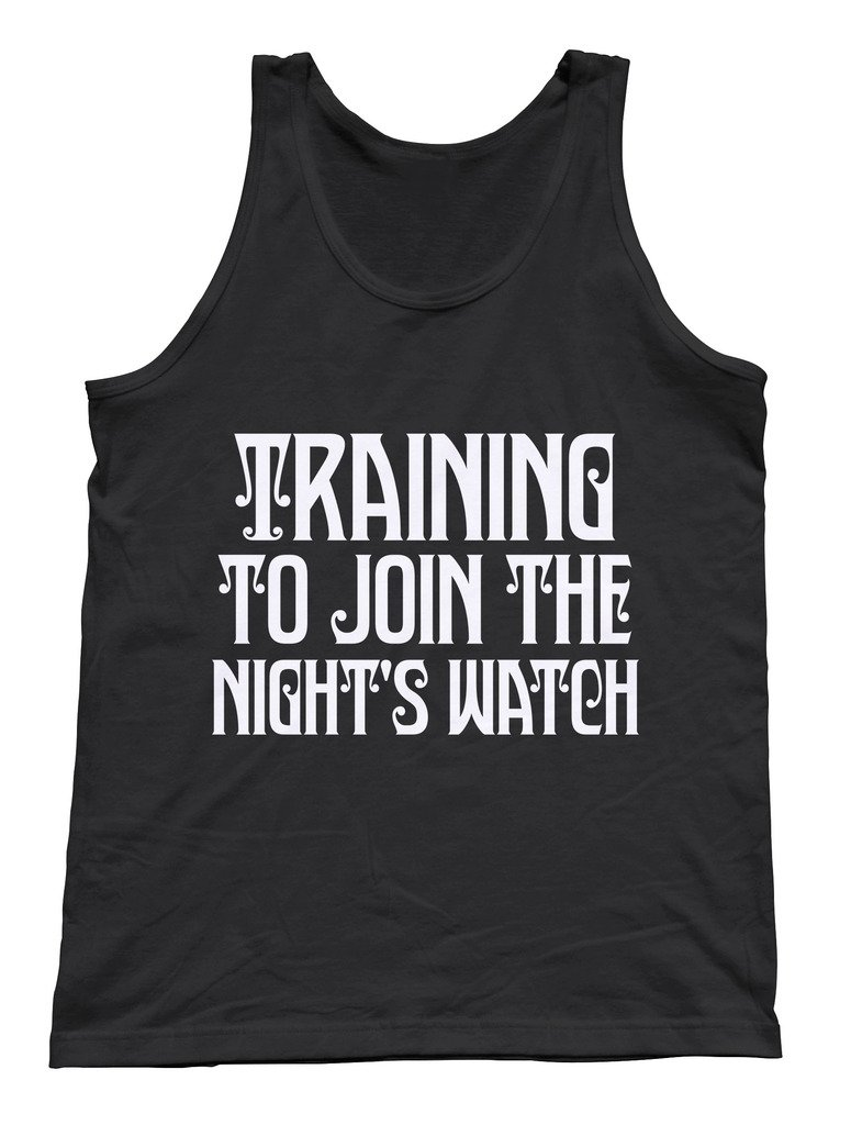 Kim Fit Fab Men's Training To Join The Nights Watch Game of Thrones Tank Medium Black