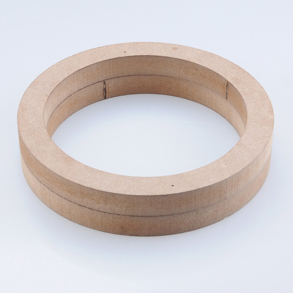 Liquor 6.5' Wooden MDF Speaker Mounting Spacer Rings Speaker Mounting Spacer Rings 2pcs Universal Car Stereo