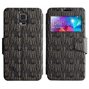 LEOCASE lindo gato Funda Carcasa Cuero Tapa Case Para Samsung Galaxy S5 I9600 No.1006153
