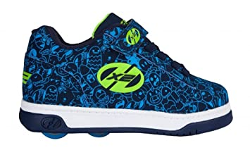 Heelys Dual Up – Zapatillas con ruedas para niño, en color azul marino con estampado en azul: Amazon.es: Deportes y aire libre