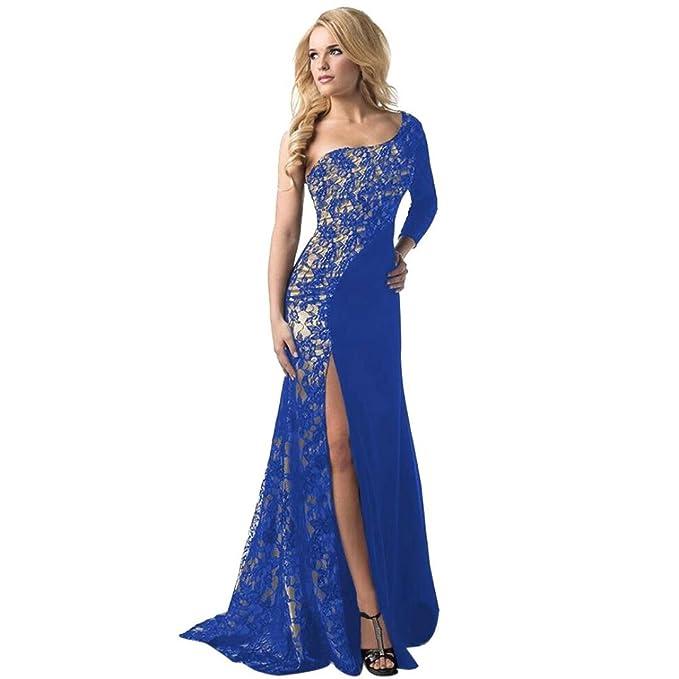 feiXIANG Damen Mädchen Abendkleid hochzeit brautjungfer langen kleid ...