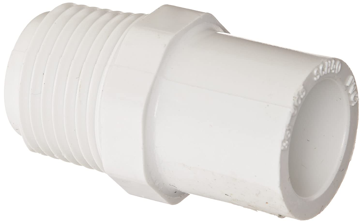 Spears 461 Series PVC Pipe Fitting, Adapter, Schedule 40, 1 NPT Male x 1 Spigot Spears Manufacturing