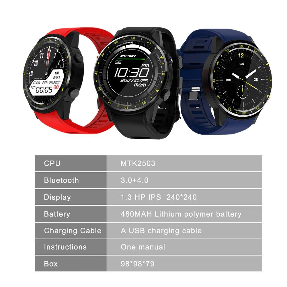 Amazon.com: GPS Bluetooth 4.0 Smart Sports Watch Fitness ...