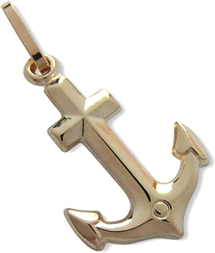 585er-Gold 14 kt Anhänger Anker K157