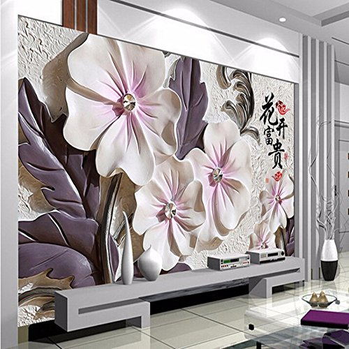 250cmX175cm 2017 Custom Modern Luxury Photo Wall Mural 3D Wallpaper Papel De Parede Living Room Tv Backdrop Wall Paper Of China Flower,C by 3Ds wallpaper