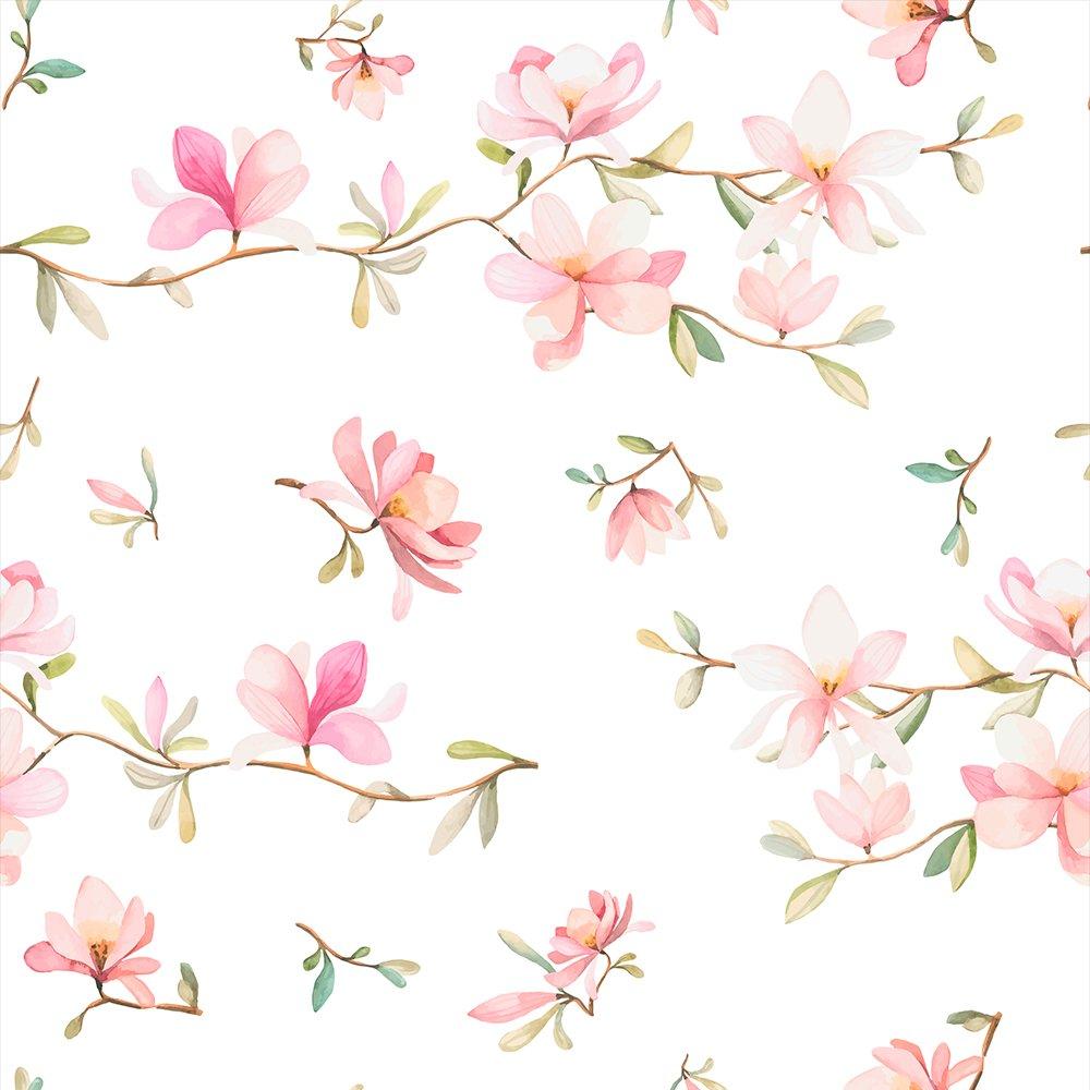 murando Papel Pintado 10 m Flores Magnolia Fotomurales tejido no tejido rollo Decoraci/ón de Pared decorativos Murales XXL moderna de Diseno Fotogr/áfico violett beige braun b-B-0314-j-a
