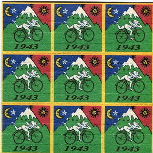 Gdabs Psychedelic Blotter Art Print perforated sheet/paper 15x15 - Hofmann Square Bike Design by Gdabs