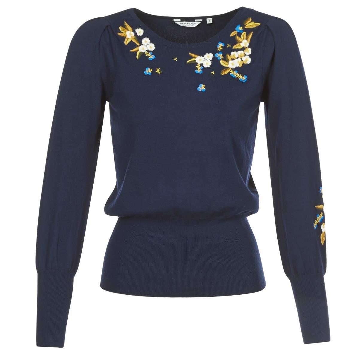 Naf Naf Jersey Flores Azul para Mujer