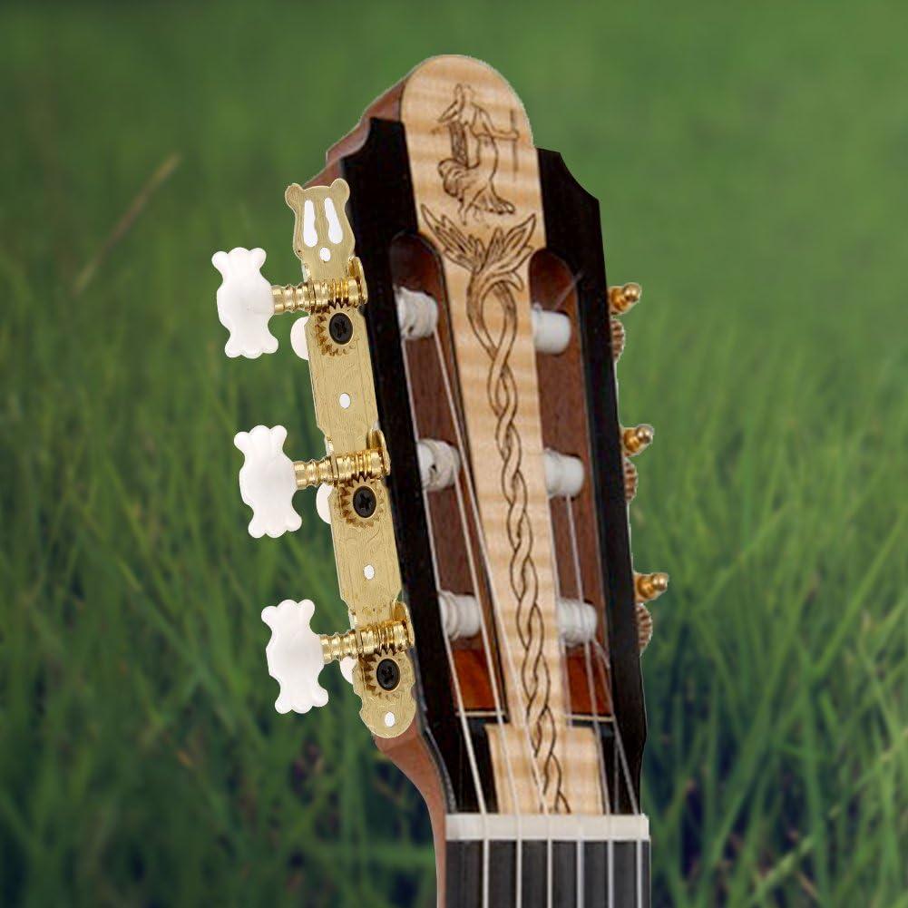3 Touches de r/églage de Corde de Guitare Classique de t/ête de Machine Chevilles 3R 3L t/êtes de Machine de Corde de r/églage de cl/é pour Guitare Classique Keenso Cheville de r/églage
