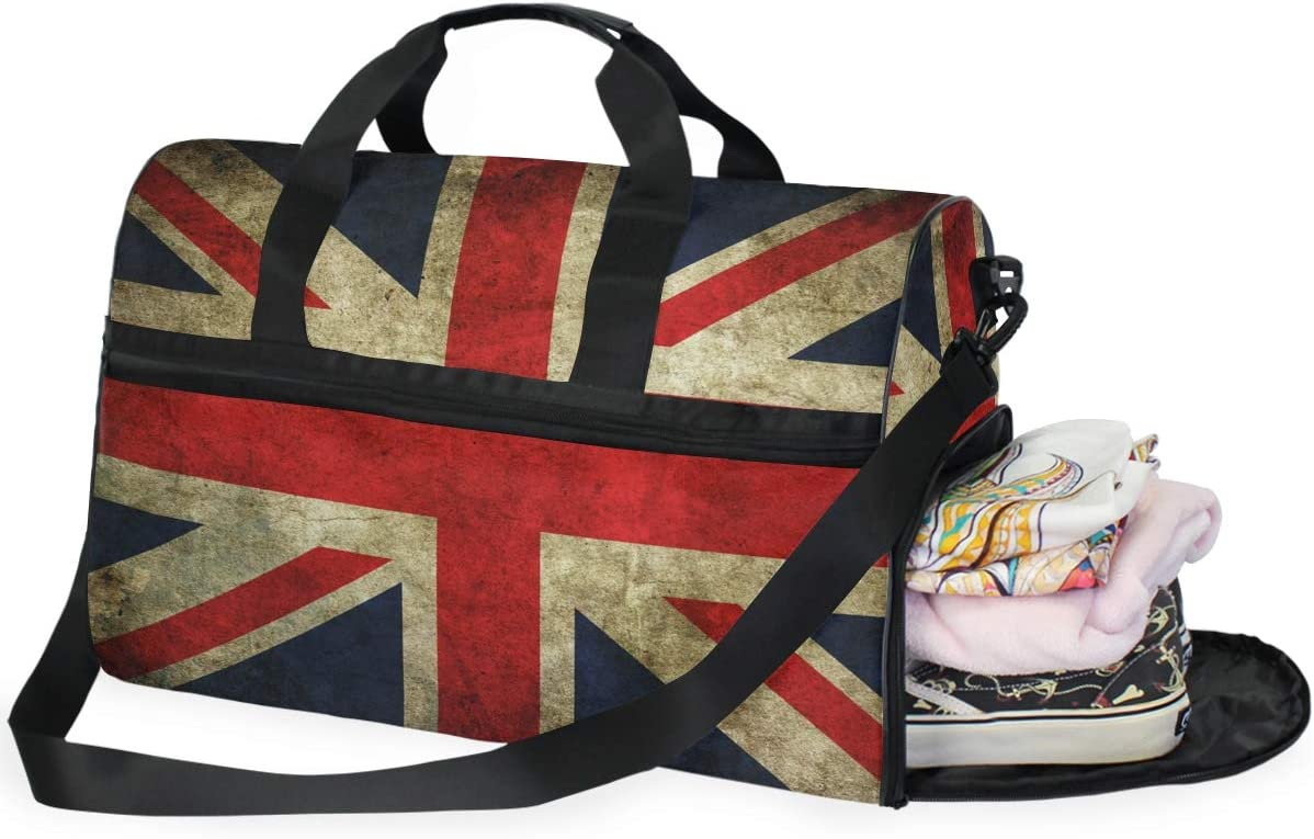 Travel Duffels Flag Printed Duffle Bag Luggage Sports Gym for Women /& Men