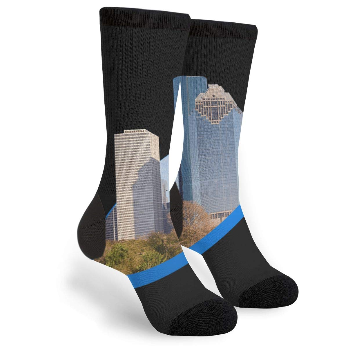 YISHOW Houston Texas Funny Crew Socks