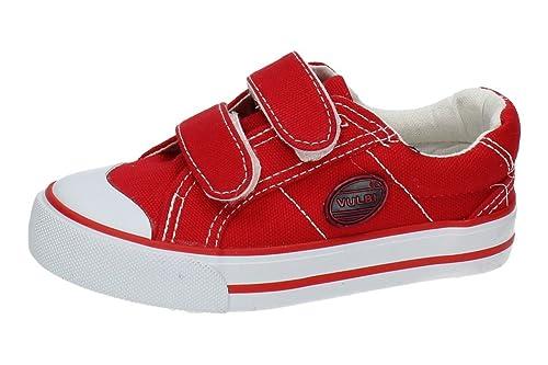 VULCA-BICHA 6328 Zapatilla DE Lona NIÑO Zapatillas Rojo 33: Amazon.es: Zapatos y complementos