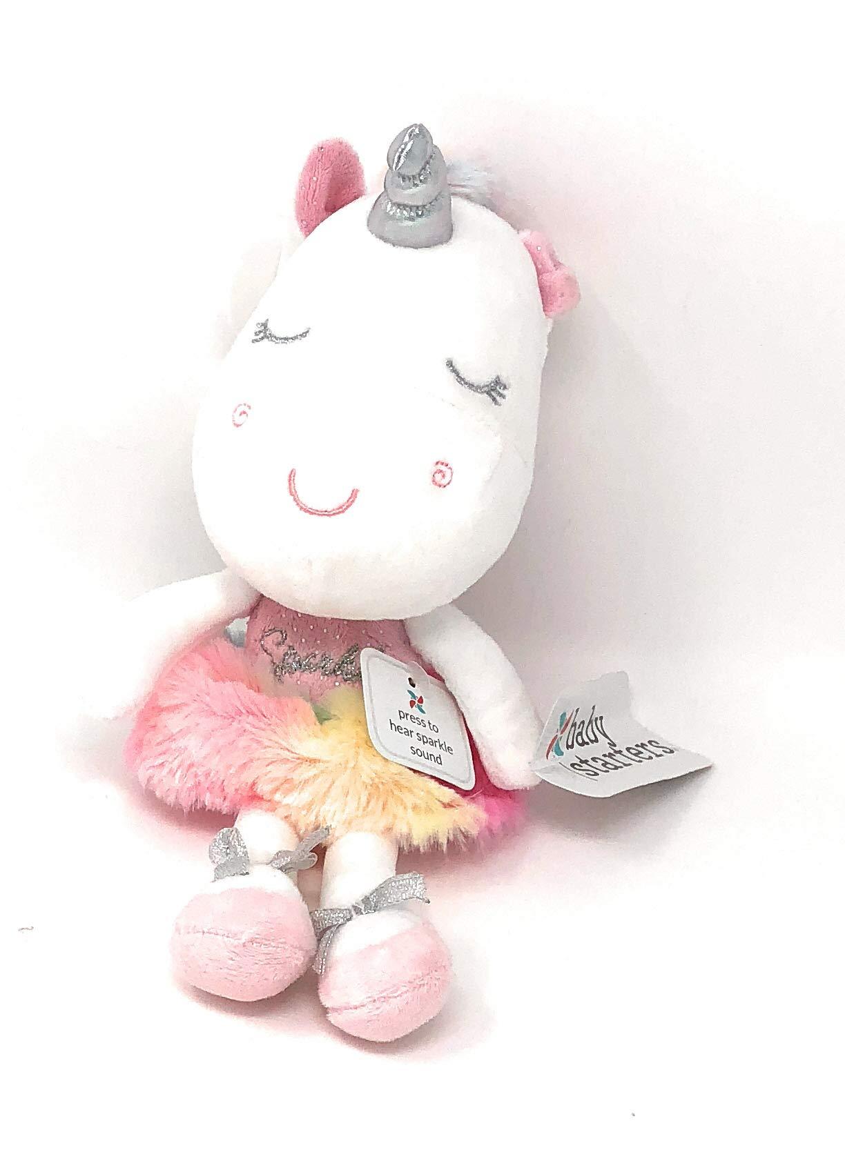 Baby Starters Ballet Tutu Rainbow Plush Unicorn ~ Dancing Ballerina | Press My Tummy to Hear Sparkle Sound | 12 in Tall by Baby Starters (Image #2)