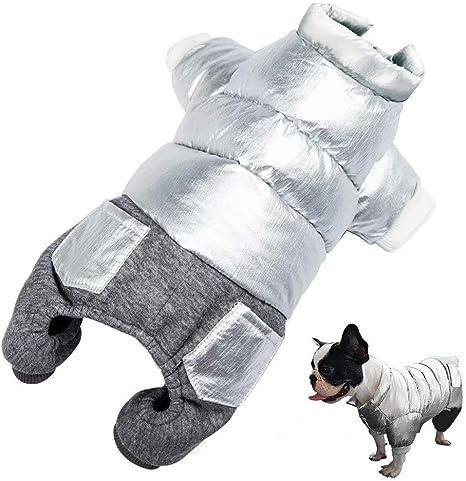 Beirui Lindos abrigos para perros pequeños y gatos, adorables y acolchados, resistentes al viento, ropa de invierno para mascotas, cachorros, ...