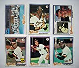 1978 Topps San Francisco Giants Team Set (29 Cards) Ex-Mint to Near Mint NM