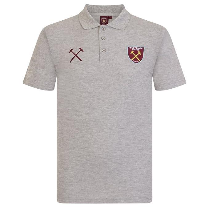 West Ham United FC Polo Oficial para Hombre - con el Escudo del Club: Amazon.es: Ropa y accesorios