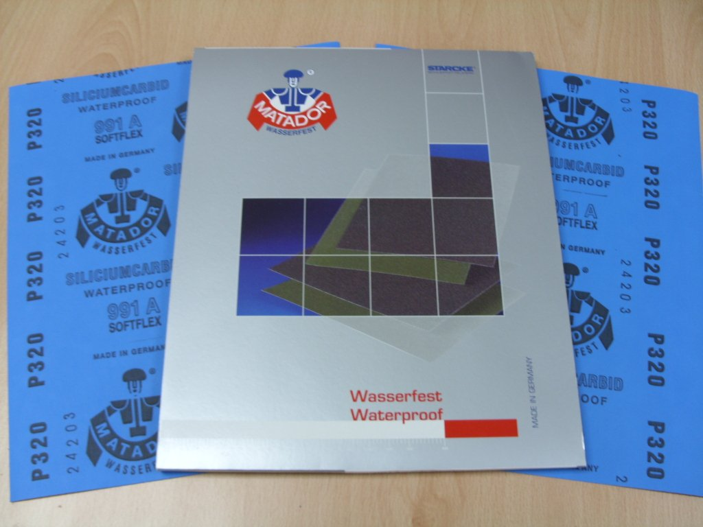 A Weight 1 pack of 10 sheets 3000 Grit Starcke Matador Wet and dry sandpaper