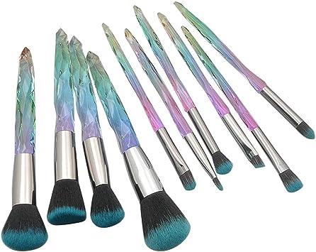 Cocoty-store 2019 Pinceles de maquillaje para ojos 10 piezas de pinceles para sombra de ojos Pinceles de mezcla Pincel de delineador de ojos Pinceles de maquillaje para ojo(C): Amazon.es: Belleza
