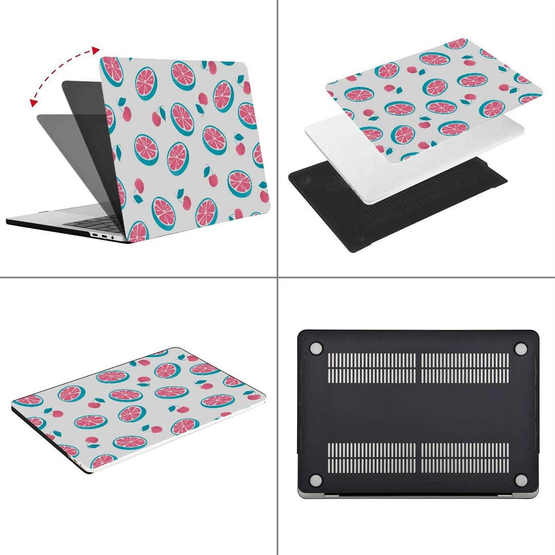 A1932 Plastic Case Keyboard Cover /& Screen Protector /& Keyboard Cleaning Br Touch ID MacBook Pro Case Pattern Cherries Lemon On White MacBook Air 13
