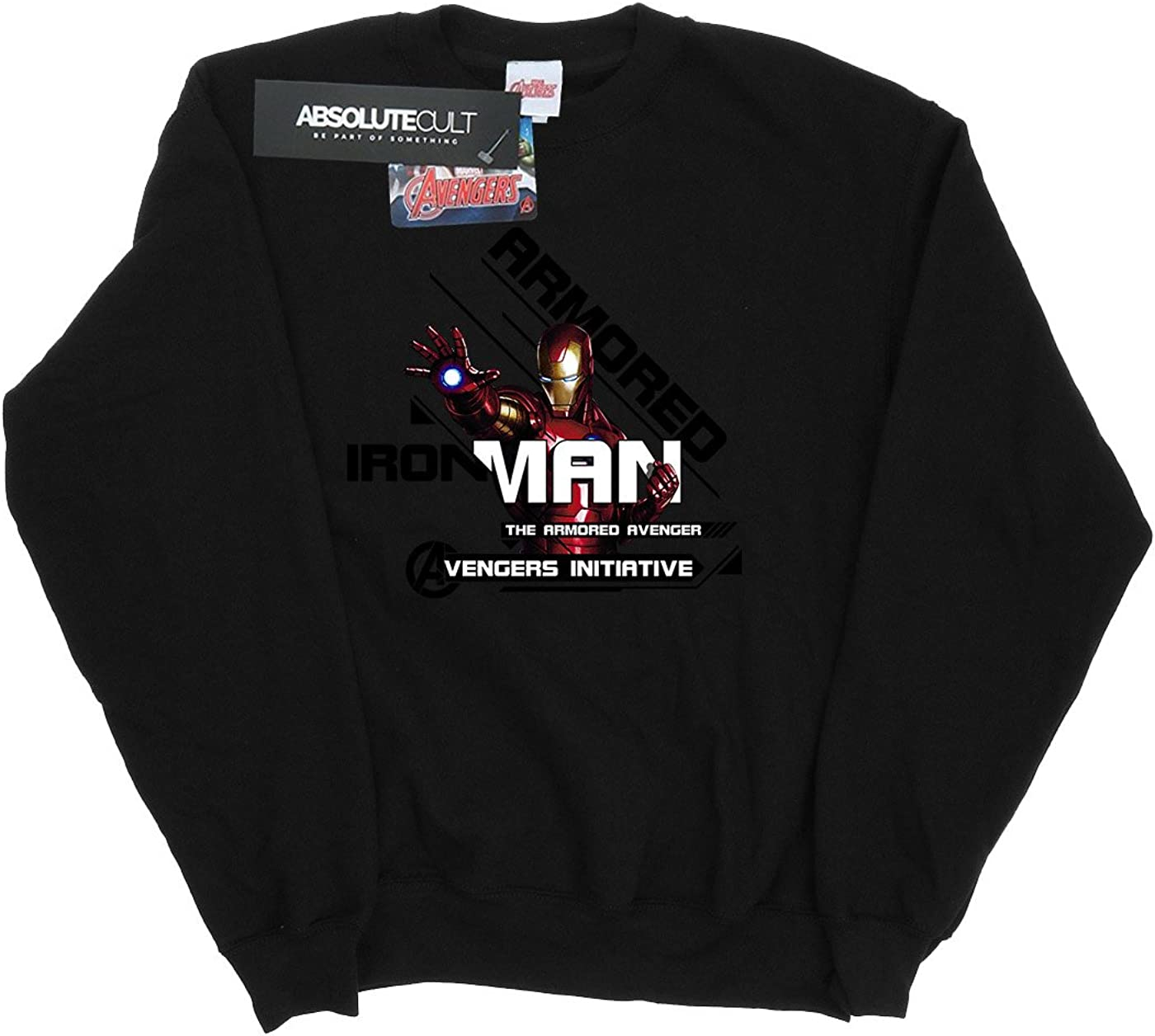 Marvel Damen Iron Man Armored Avenger Sweatshirt Schwarz