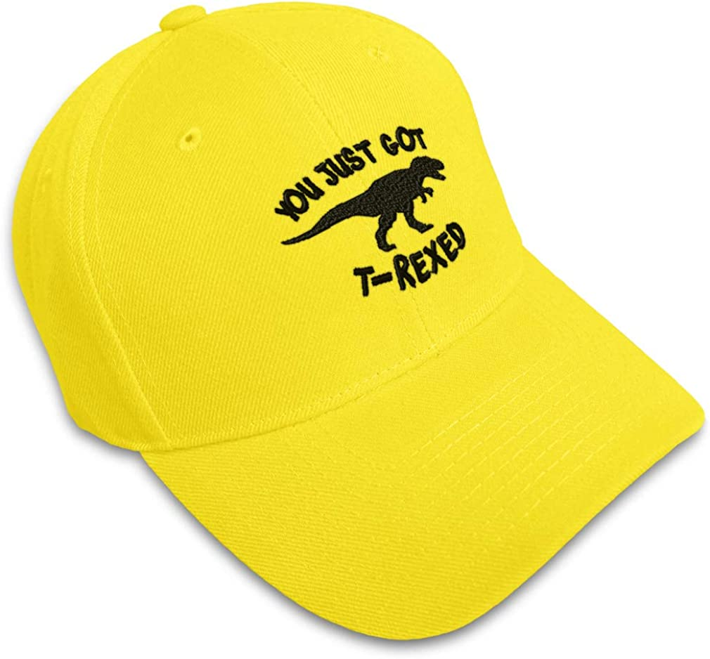 Custom Baseball Cap You Just Got T-Rexed Style A Embroidery Strap Closure