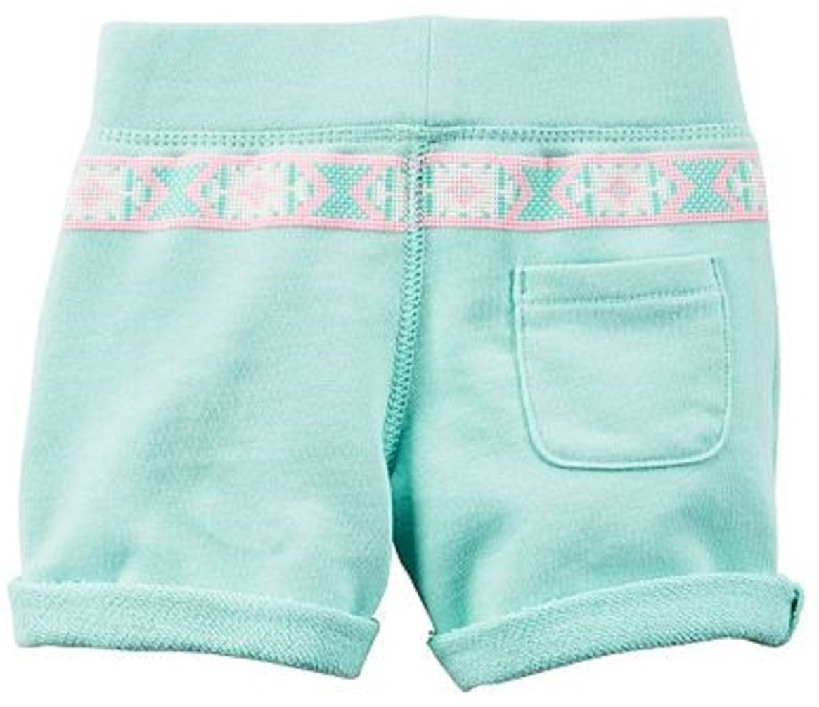 Carter's Little Girls' French Terry ''Happy'' or ''Love'' French Terry Shorts (8, Teal ''Love'') by Carter's (Image #2)