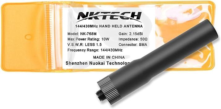 NKTECH Antena de doble banda SMA-hembra para BaoFeng UV-5R ...