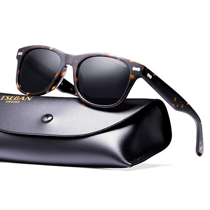 TSEBAN Retro Gafas de Sol Mujer Polarizadas UV400 Protección ...