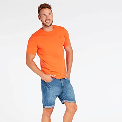 Camiseta Naranja Hombre Up Basic (Talla: 2XL): Amazon.es ...