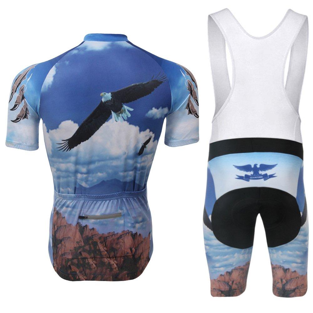 v/êtements de Sport avec Shorts//Shorts /à Bretelles 3D /à Manches Courtes Anti-Transpiration v/élo adapt/és /à la Pratique du Plein air,S FLH Combinaison Cycliste Classique pour Hommes