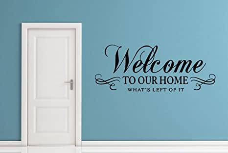 Amazon.com: New Wall Decals for Living Room Quotes Welcome ...