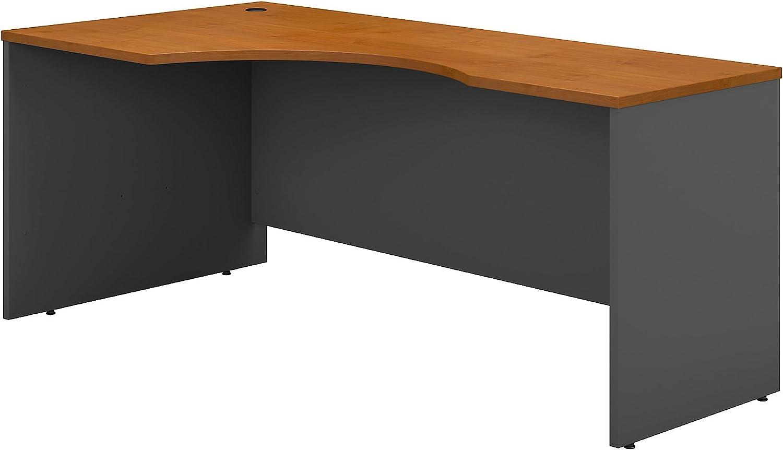 Bush Business Furniture Series C 72W Left Handed Corner Desk in Natural Cherry
