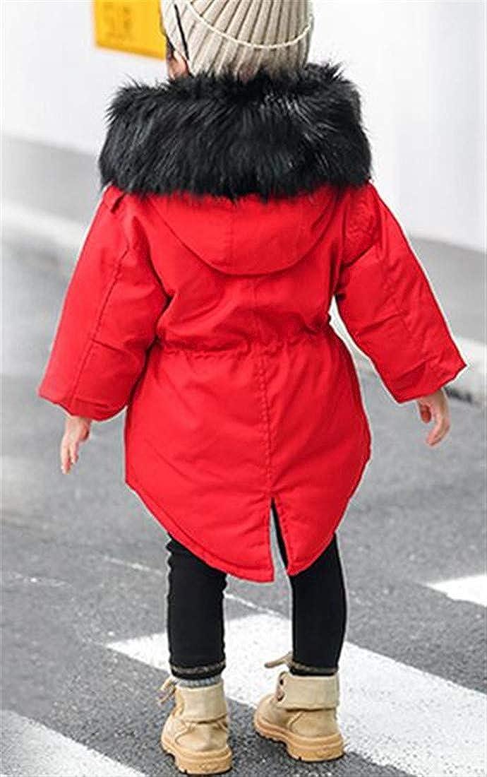Etecredpow Girls Winter Overcoat Classical Thicken Hoodie Parkas Coats