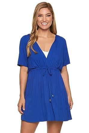 763fa4b307 Dotti Women's Wovens Tie Waist Tunic Hoodie Swim Cover Up at Amazon Women's  Clothing store: