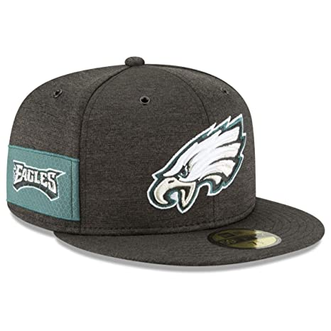 a79b823d90b New Era Philadelphia Eagles 2018 NFL Sideline Home Alternate Official  59FIFTY Fitted Hat – Black (