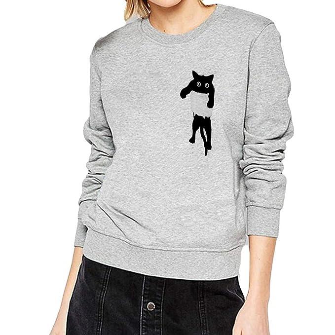 1f52d941a8a6 Pullover Damen Weihnachten Winter Herbst Btruely Stricken Langarmshirt  Loose Fit Sweater Langarm Sweatshirt Elegant Jumper